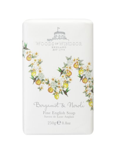 Bergamont & Neroli by Woods of Windsor 8.8 oz Bar Soap (Herbal Scented Eau De Toilette)