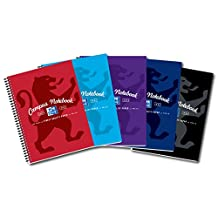 Oxford Campus A4+ Wirebound Card Cover Notebook (Pack of 5 Assorted Colours)