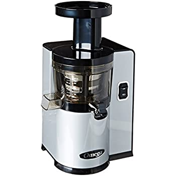 Amazon.com: Omega vRT350 Heavy Duty Dual-Stage vertical Single Auger Low Speed Juicer Silver ...