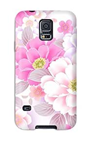 Awesome Flower S Flip Case With Fashion Design For Galaxy S5