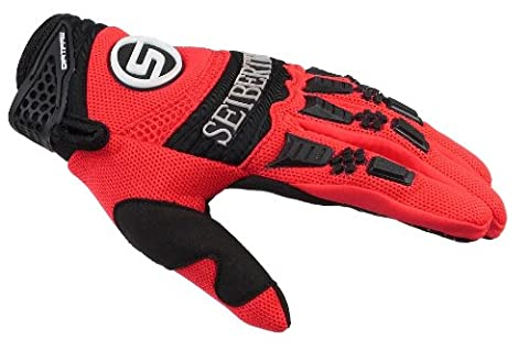 Seibertron Dirtpaw Men's BMX MX ATV Racing Gloves Bicycle MTB Racing Off-road/Dirt bike Sports Gloves Red - Mens Off Road Motorcycle