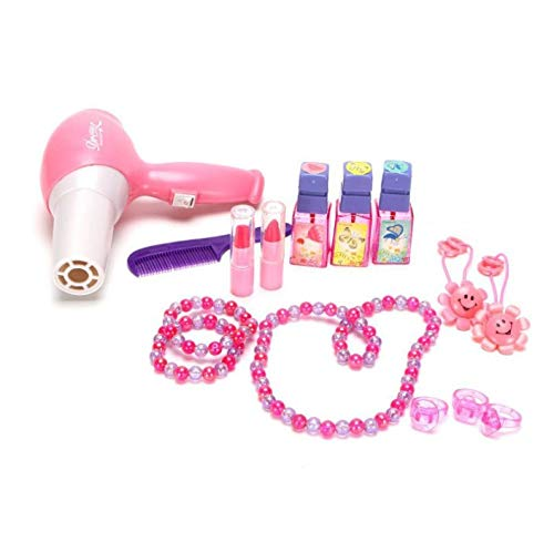 sogoog Girls Make Up Dressing Table, Glamorous Princess Dressing Table with Stool, Mirror, Hair Dryer, Make-Up Table Toy Play Set by sogoog (Image #5)