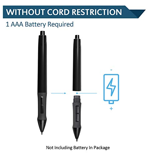 Huion P80 Rechargeable Digital Pen, 2048 Pressure Sensitivity Digital Stylus Penfor Professional Wireless Graphic Drawing Tablet(Charging Cable Included)