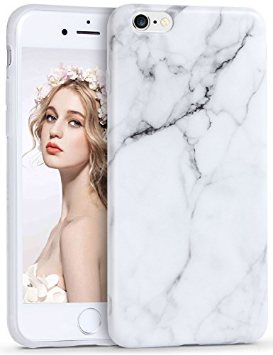 iPhone 6s Case, Imikoko™ TPU Flexible Case Print Crystal Pink Cute Marble Pattern Slim Fit Snap On Hard Silicone Shell Back Case For iPhone 6/6S 4.7