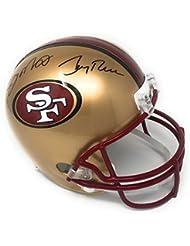 Joe Montana Jerry Rice San Fransisco 49ers Dual Signed Autograph Full Size Throwback Helmet GTSM Player Hologram Certified
