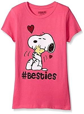 Peanuts Girls' Short Sleeve T-Shirt