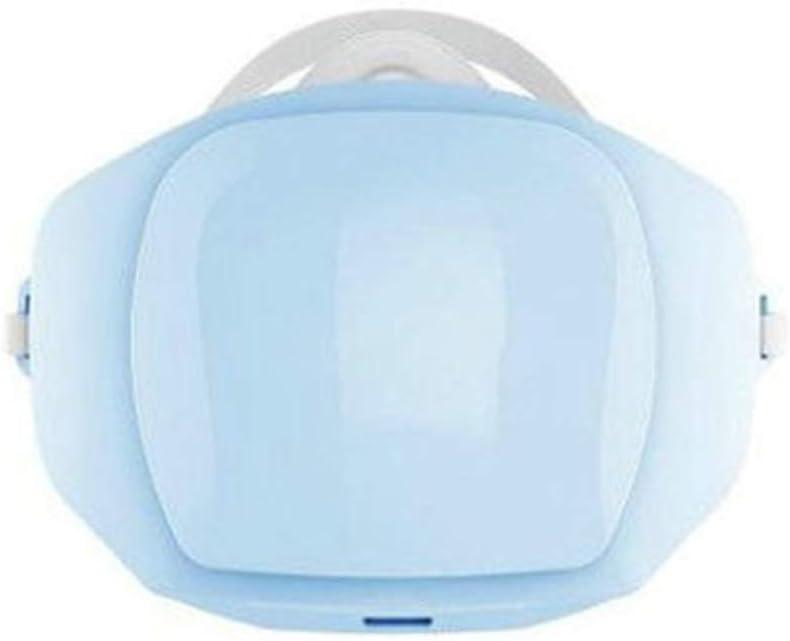 YUHUANG Máscara neblina eléctrico, al Aire Libre esterilización Ciclismo Anti-Niebla con Humo máscara Reutilizable Equipado con Filtro de algodón-con 30 filtros,Blue