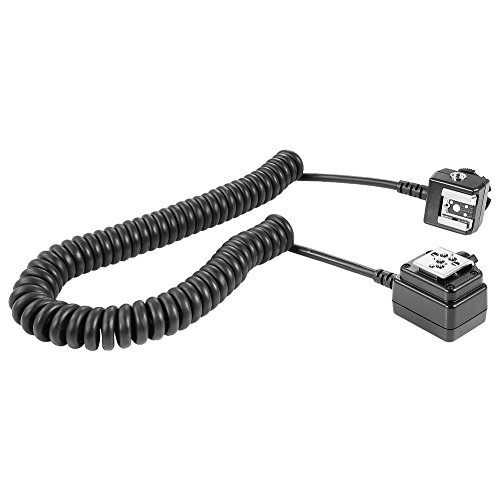 Neewer 4.9 feet/1.5 m TTL Off Camera Flash Speedlite Cord for Nikon D3000,D3100,D3200,D3300,D5000,D5100,D5200,D5300,D5500, D7000,D7200,D7100,D90,D600,D800,D800E DSLR Cameras