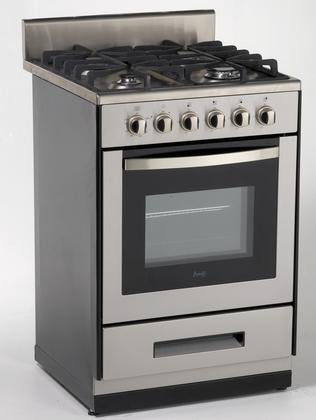 Avanti DG2450SS-1 24-Inch  Gas Range Sealed Burners, Stainless Steel