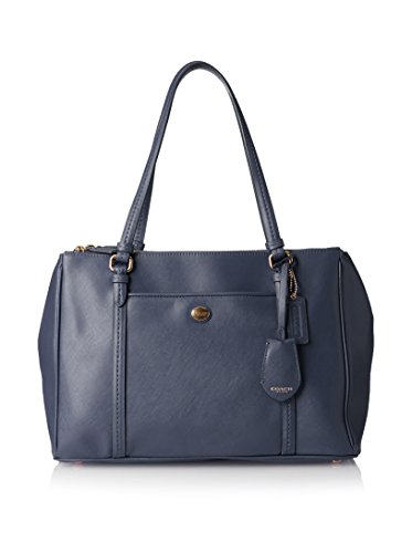 Coach Peyton Leather Jordan Double Carryall Ink F25669 by Coach