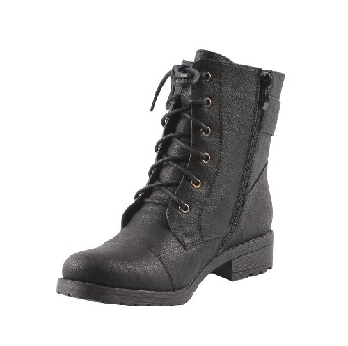 Amazon.com | BONNIBEL RIO-3 Women's lace up ankle boot on traction ...