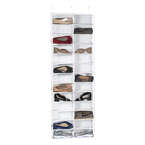 (Richards Homewares Clearly Clear Purse 25526 Vinyl 26 Pocket Over The Door Shoe Organizer)