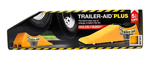 Trailer-Aid 'Plus' Tandem Tire Changing Ramp, The Fast and Easy Way To Change A Trailer's Flat Tire, Holds up to 15,000 Pounds, 5.5 Inch Lift (Yellow)