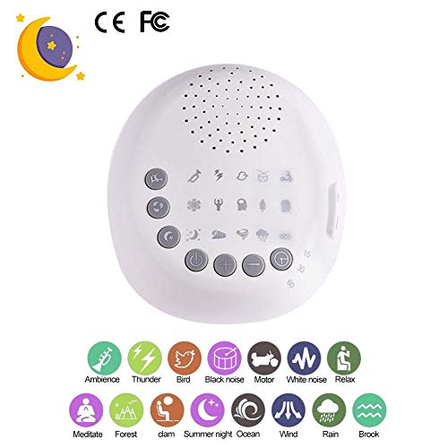 Shantan White Noise - Sound & Relaxation Home Office 15 Natural and Sounds,Sleep Timer Or Battery