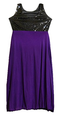 with Purple DollsofIndia Lycra Gown Sequin NS74 Work Black Size XXS AEAqwO