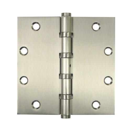 Deltana DSB55NB10B Solid Brass 5-Inch x 5-Inch Square Hinge