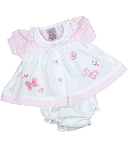 - BabyPrem Preemie Baby Dress & Knickers Set Butterfly Girls Clothes 5.5-7.5lb White P3