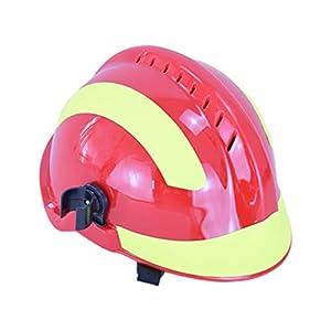 YUYUE21 Casquillo de Seguridad de protección de Casco de Rescate de terremoto con Gafas Sombrero de Bombero 3