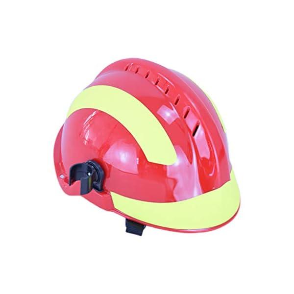 YUYUE21 Casquillo de Seguridad de protección de Casco de Rescate de terremoto con Gafas Sombrero de Bombero 2
