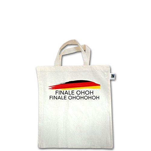 EM 2016 - Frankreich - Deutschland Finale OHOH - Unisize - Natural - XT500 - Fairtrade Henkeltasche / Jutebeutel mit kurzen Henkeln aus Bio-Baumwolle