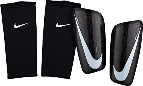 Nike Mercurial Lite Shin Guard (Black/Black/White, Medium)
