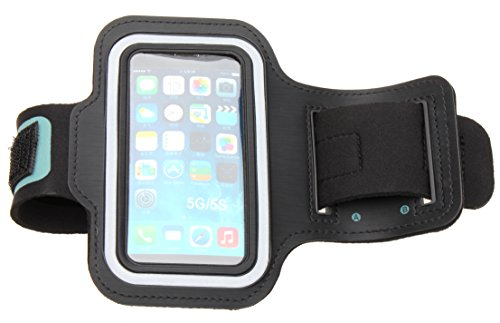 Ipod Waterproof Armband - Sports Armband for iPhone 5, 5C, 5S, 4, 4S and iPod Touch 5th Generation by Osurce. Running Sports and Exercise Gym Sport-band. WATER Resistant, Sweat PROOF, and NO Slip. (Black)