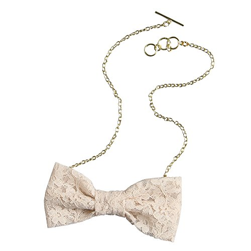 Ivy Lane Design with with Chain Lace Bow Tie, Blush