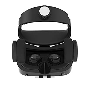 Toprime 3D VR Glass Headset Upgraded and Much Lighter Version Virtual Reality Goggles est Generation VR Case Black (with Ventilation Holes and Adjustable Lens and Strap) (VR04) from Toprime