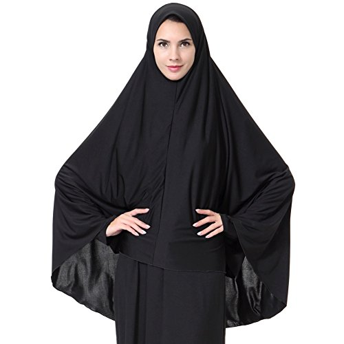 Scarf Abaya (Cocohot Muslim Arab Robe Middle East Dress Lady Robe Long Hijab Abaya Suit)