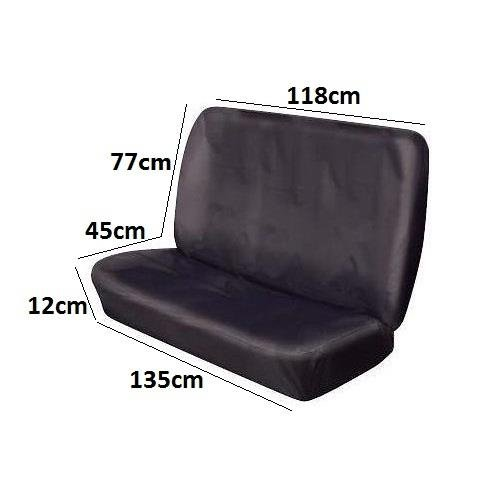 Pet Dog Cat Vets Travel Rear Seat Cover Protector Quality Black Heavy Duty AutoPower