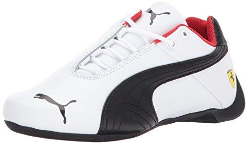 (PUMA Unisex Ferrari Future Cat Kids Sneaker, White Black, 6.5 M US Big)