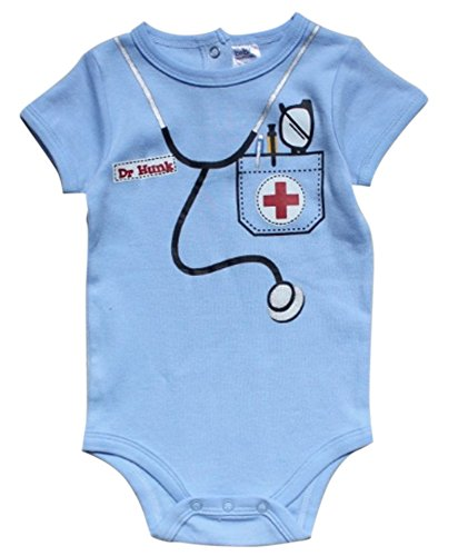 FANCYBABY Doctor Baby Newborn Boy Girl Costume Novelty Top Shirt Onesie Clothes Outfit (3 to 6 Months)