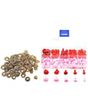 100pcs 8mm 9mm 11mm 15mm 16mm Plastic Triangle Safety Nose with Backs for DIY Sewing Doll Bear Teddy Kids Pink Red Noses Toys