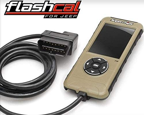 BRAND NEW SUPERCHIPS FLASHCAL F5 IN-CAB TUNER,GASOLINE,COMPATIBLE WITH 2007-2018 JEEP JK WRANGLER