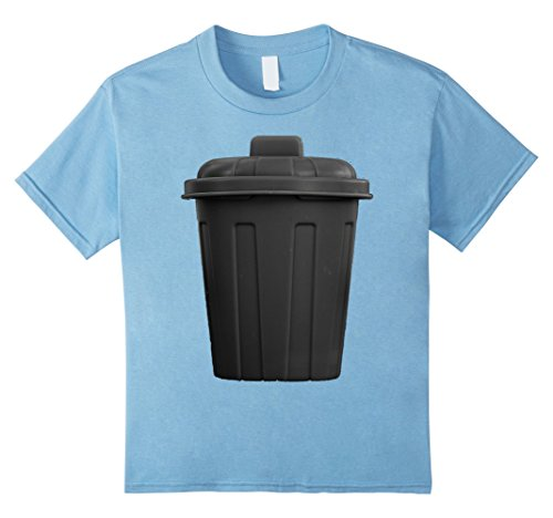 Kids Trash Can Funny Hilarious Halloween Costume T-Shirt 6 Baby Blue