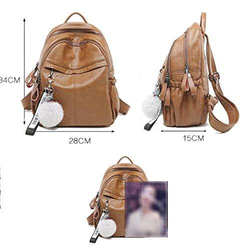 Dos Carry Brown Sac Lady École Voyage Sport Backpacking Femelle Air Mode Grande En À En On Plein Souple Sac À Sac Dos Cuir Capacité gnqzxR0w
