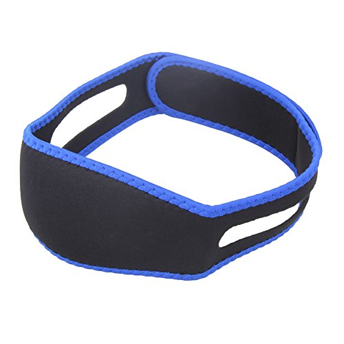 SnoreTecPro-Personal Adjustable Stop Snoring Chin Strap (Black/Blue)