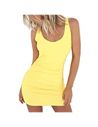 Womens Sexy Backless Bodycon Cocktail Clubwear Mini Dress For Summer