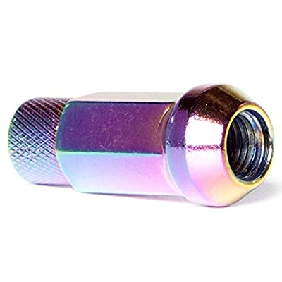 Circuit Performance Forged Steel Extended Hex Lug Nut for Aftermarket Wheels: 12x1.25 Neo Chrome - 20 Piece Set + Tool: Automotive