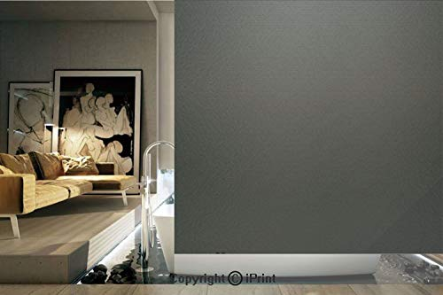Decorative Privacy Window Film/Digital Creation of a Leather Texture Abstract Dark Colored Background Classical Print/No-Glue Self Static Cling for Home Bedroom Bathroom Kitchen Office Decor Grey Whit