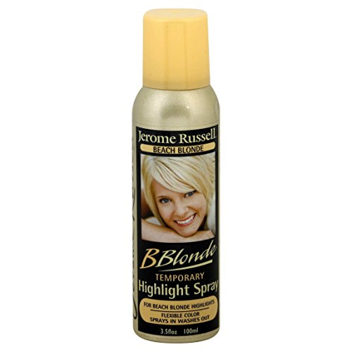 (jerome russell B Blonde Temporary Highlight Spray, Beach Blonde, 3.5 Ounce)