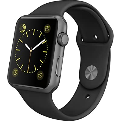 Apple Watch Gen 1 Sport 42mm Space Gray Aluminum - Black Sport Band MJ3T2LL/A