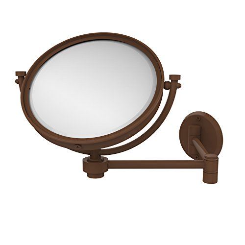 Allied Brass WM-6/5X-ABR 8-Inch Wall Mirror with 5x Magnification Extends 14-Inch, Antique Brass