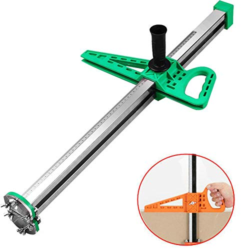 Aquarius CiCi Manual Gypsum Board Cutter Artifact Tool Hand Push Drywall Cutting with Double Blade and 4 Bearings 20-600mm Cutting Range(Green)