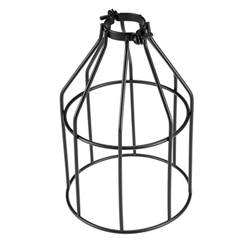 Wire Cage Clamp Lamp - uxcell Metal Bulb Guard Clamp Mount Lamp Hanging Pendant Light Fixture Holders Vintage Type Industrial Iron Wire Bird Cage