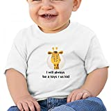 White Baby I Will Always Be A Toys Us Kid T-Shirt 18M Soft Cozy Infant Short Sleeve Undershirts