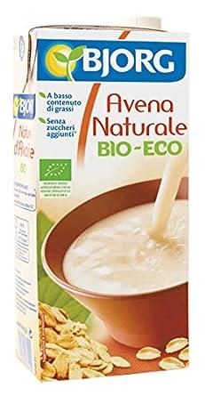 Bjorg Bebida Vegetal de Avena Natural - Paquete de 12 x 1000 ...