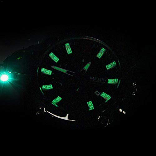foreverwen Luminous Quartz Watch Fashion Casual Business Dress Wristwatch Waterproof Full Stainless Steel Analog Chronograph Three Time Keeping Indicator by foreverwen (Image #4)