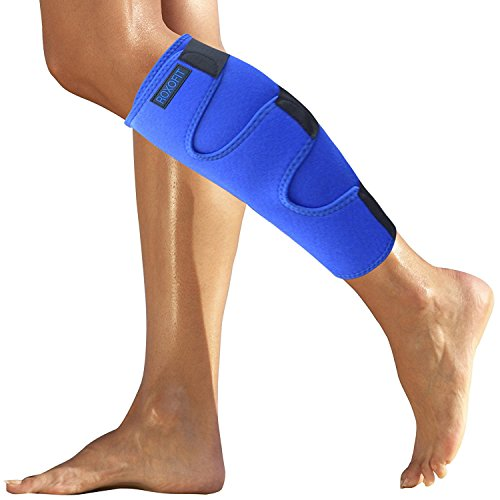 - Calf Brace - Shin Splint Support for Calf Pain Relief Muscle Tear Strain Sprain Shin Splints Tennis Leg Calf Injury. Best Compression Lower Leg Brace for Men Women. Calf Compression Sleeve Running