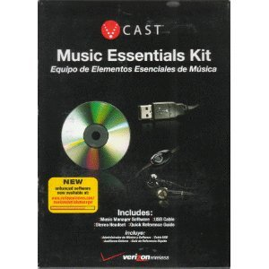 (VERIZON V CAST MUSIC ESSENTIALS KIT FOR LG CHOCOLATE VX8500, VX8600 INCLUDES MUSIC MANAGER SOFTWARE, USB CABLE AND STEREO)